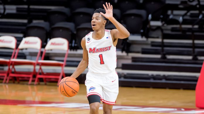 Hakim Byrd scored Marist's final three points on Saturday, including a free throw with 1.9 seconds left.