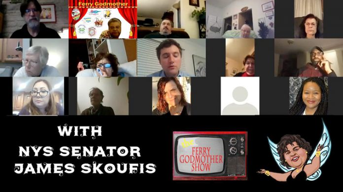 Ferry Godmother Hosts Virtual Chat with Senator, James Skoufis about COVID-19 vaccination details.