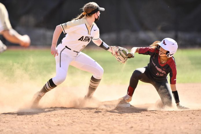 The Army West Point softball team fought to a double header split with Saint Joseph's University on Saturday afternoon.
