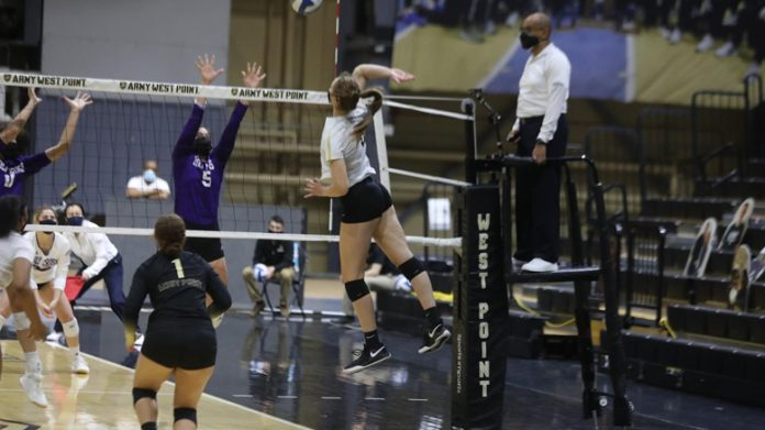 The Army West Point volleyball team topped Holy Cross in a five-set thriller Friday evening at Gillis Field House.
