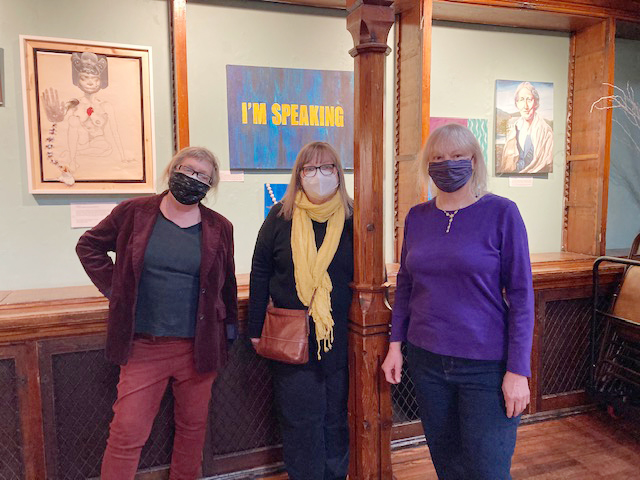 Over 30 female artists contributed to this year's 27th Annual Women's Group Art Show at Beacon's Howland Cultural Center. Among the talented and diversified artists are from left; Ann West, Marguerite Eberhart and Jean Noack.
