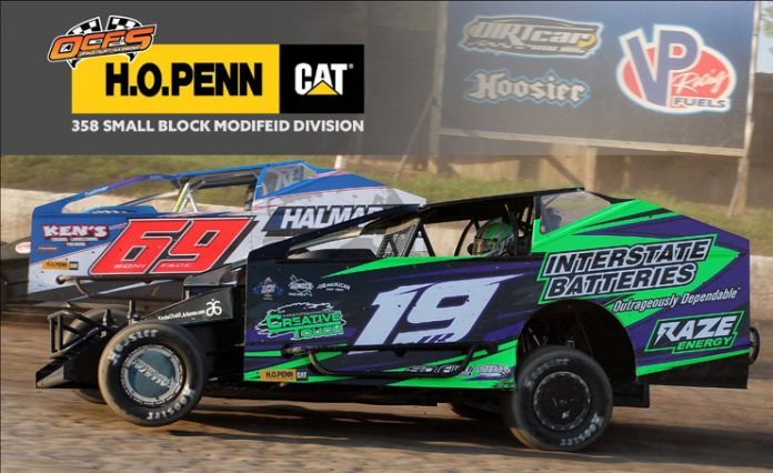 """The fiercest competition on 4-wheels this summer is at Orange County Fair Speedway in the """"H.O Penn 358 Small Block Modified"""" racing division!"""