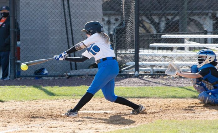 The Knights rebounded for an 11-6 victory in game two on Sunday as Freshman Nicole Palmer drove in five runs for the Knights in Sunday's victory.