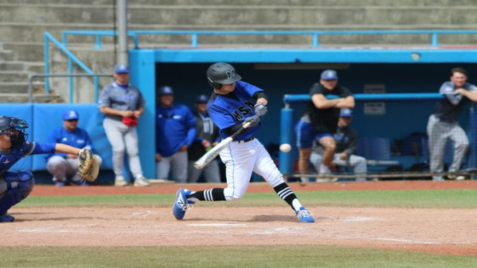 Senior infielder Steven Mirra recorded his 100th career hit on Saturday and collected his first career win on the mound as the Mount Saint Mary College Baseball team split a season ending doubleheader with Manhattaville.