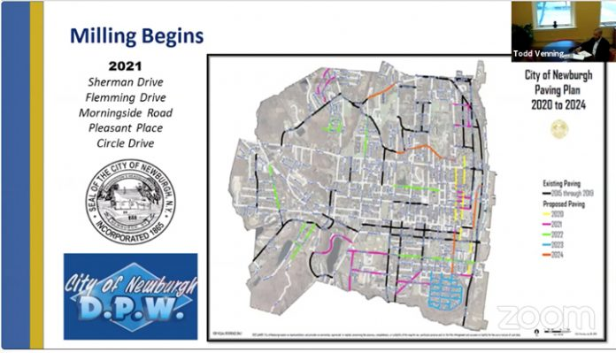 The City of Newburgh Paving Plan will begin in June following the milling process starting at the end of May.