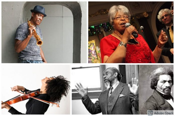 Harambee Kingston NY (HKNY) invites the public to celebrate its Juneteenth African American Independence Day celebration, at their Grand Opening on Saturday June 19th, Noon-4pm at 157 Pine Street, Kingston, NY. Pictured above, the Harambee Kingston NY Juneteenth performers collage.