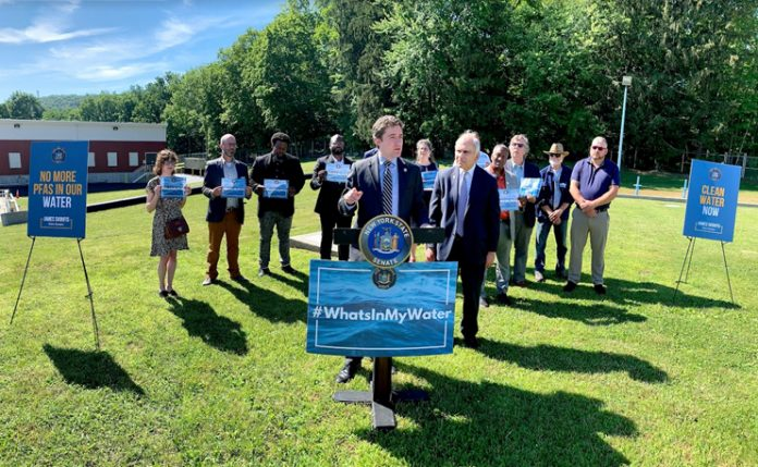 Senator Skoufis joins water advocates and local officials at the City of Newburgh Water Department 1
