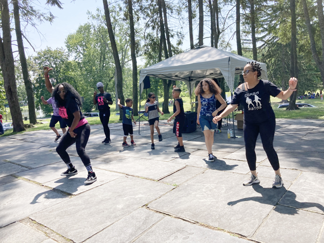 Dancers entertain guests at Saturday's 9th Annual Community Appreciation Day event, held at Downing Park. Beautiful weather, a large turnout, plenty of positive energy and community bonding as well as a multitude of fun, delicious and informative offerings made for a hugely successful day for all involved.