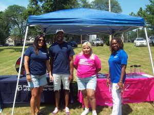 About 26 vendors were on hand at Saturday's Annual Community Appreciation Day, held at the City of Newburgh's Downing Park. One of the community agencies, providing critical information about their services as well as fun activities for children included Planned Parenthood Greater New York. Pictured from left are; Christina Soto, Health Educator; Oliver Spearman, Health Educator/Youth Advisor; Aura Lopez Zarata, Raiz Organizer; and Lana Williams-Scott, Associate Vice President Community Engagement.