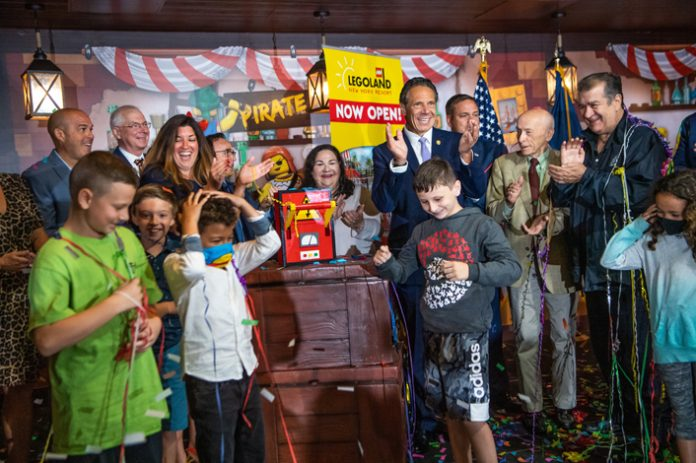 Governor Andrew Cuomo joined with local elected officials for the opening of the final land to open at LEGOLAND® New York Resort in Goshen last week.