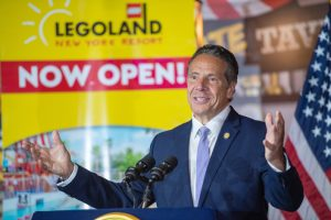 Governor Andrew Cuomo offers remarks regarding the first new major theme park in the Northeast in more than four decades - LEGOLAND® New York.