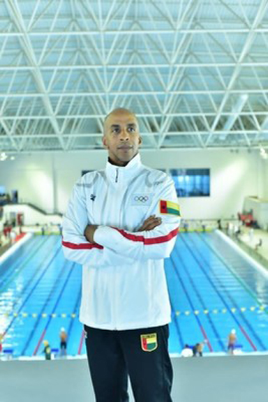 Siphiwe Baleka at June 26, 2021 Egyptian National Swimming Championships   Photo Credit – Egyptian Swim Federation