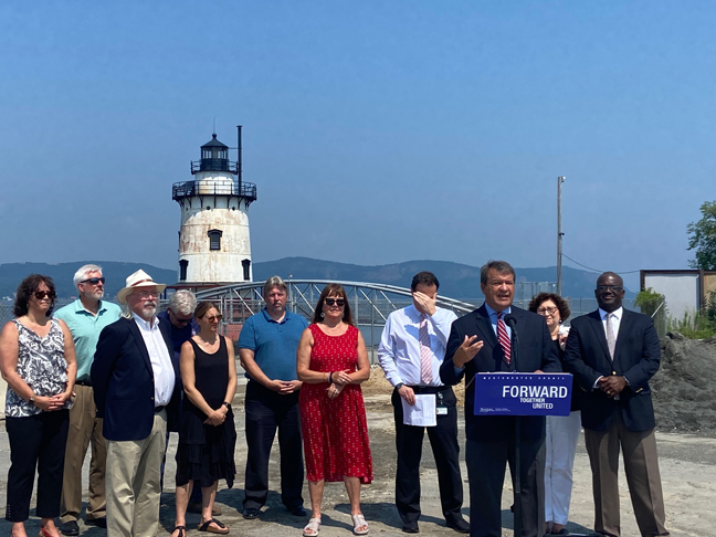 Latimer announced the passage of $3,311,000 to finance capital project RKLO 1 – a rehabilitation of the historic Tarrytown Lighthouse Restoration.