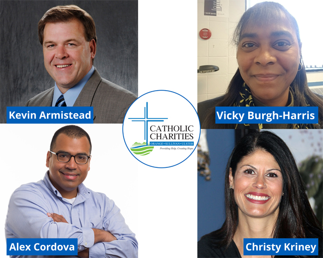 Ms. Shannon Kelly, CEO of Catholic Charities of Orange, Sullivan, and Ulster, is pleased to announce the appointment of four new members to the not-for-profit agency's volunteer board of directors.