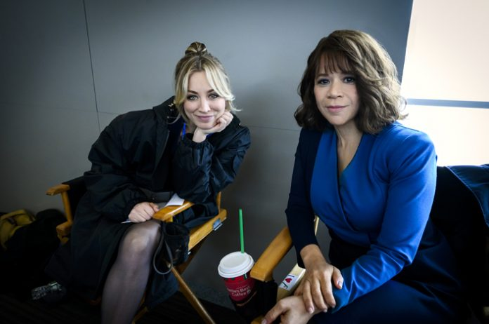 Kaley Cuoco and Rosie Perez, stars of the HBO Max original series The Flight Attendant. Several scenes were filmed in Westchester. Photo: HBO Max