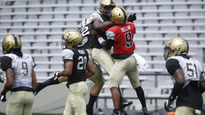 The Army West Point football team closed out its fall camp on Saturday with its first scrimmage of the season at Michie Stadium.