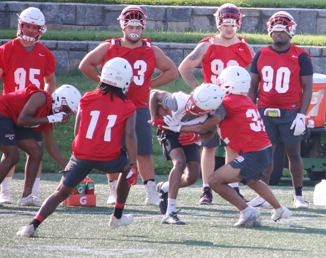 The Marist football team held its first practice of summer camp on Sunday afternoon at Tenney Stadium.