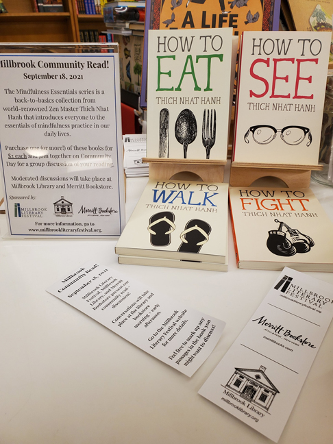 Books for Millbrook Literary Festival's community read program are on sale now by the register at Merritt Bookstore. Photo: Sam Falk