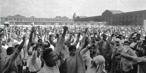 """The film """"Attica"""" details the 1971 Attica Prison Riots, the country's longest and deadliest prison rebellion, lives in the nation's memory, but the details are murky. This investigative doc sheds light on the event and systemic problems in state and federal penitentiaries. Back in the day, the maximum-security Attica Correctional Facility in upstate New York was run by white administrators and guards. The prisoners were mostly black and brown."""