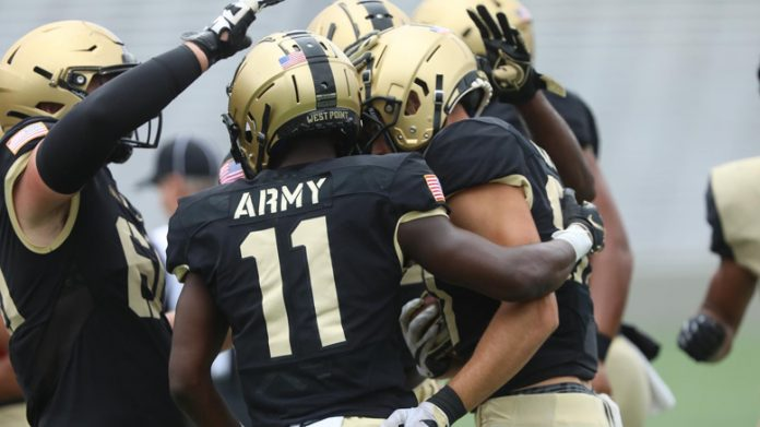 The Army West Point football team held its final scrimmage on Saturday afternoon at Michie Stadium as the Black Knights get ready for the season opener.
