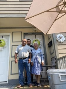 The Cruz family were one of several Habitat of Greater Newburgh homeowner families who helped contribute to Sunday's Annual Walk by providing bottled water to walkers who toured the City of Newburgh.