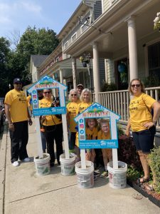 Walkers in Sunday's Habitat for Humanity of Greater Newburgh's Annual Walk for Housing were all smiles Sunday afternoon as they toured the 2.8 mile stretch of completed and in-progress homes of the organization.