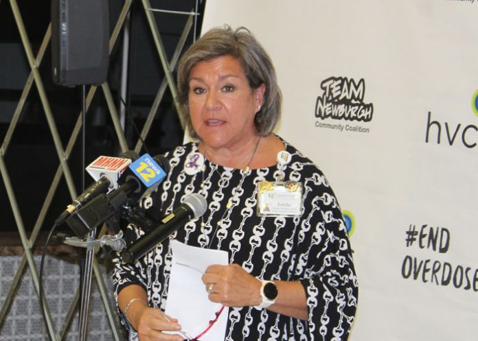 """International Overdose Awareness Day is a somber day, but it is also """"a day of hope."""" That was the message from Linda Muller (pictured above), president of Cornerstone Family Healthcare as several agencies gathered in the City of Newburgh to mark the day and remember those who have died from drug overdoses."""