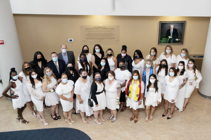 Mount Saint Mary College School of Nursing honors nursing students during the Nursing Pinning Ceremony for the Non-Traditional Class of 2021 on September 1, 2021. Photo: Lee Ferris