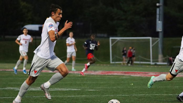The Marist men's soccer team got off to a hot start, scoring three goals in the first half and adding one more in the second as they defeated the Howard Bison 4-0 in their home opener at Tenney Stadium on Saturday evening.