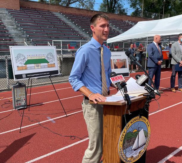 Mayor Steven Noble seeks bonding for major facelift for Dietz Stadium.
