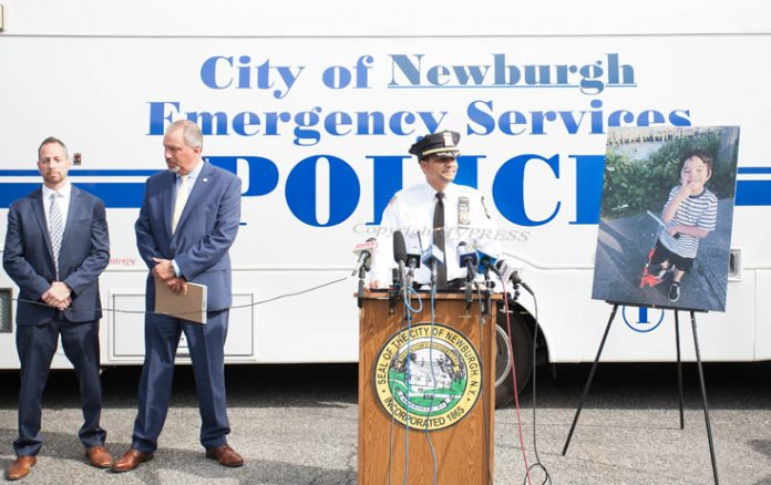 City of Newburgh Police Commissioner Jose A. Gomerez announced on Friday, October 8, Leticia Bravo was charged with Murder in the Second Degree in connection with the starvation death of a seven-year-old boy, Peter Cuacuas. HUDSON VALLEY PRESS/ Chuck Stewart, Jr.