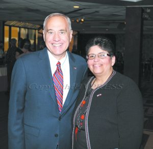 The Latino Democratic Committee of Orange County held their annual Fall Dinner Dance on Saturday, October 2, 2021 at Cafe Internationale at The Ramada. NYS Comptroller Thomas DiNapoli with Sonia Ayala. HUDSON VALLEY PRESS/ Chuck Stewart, Jr.