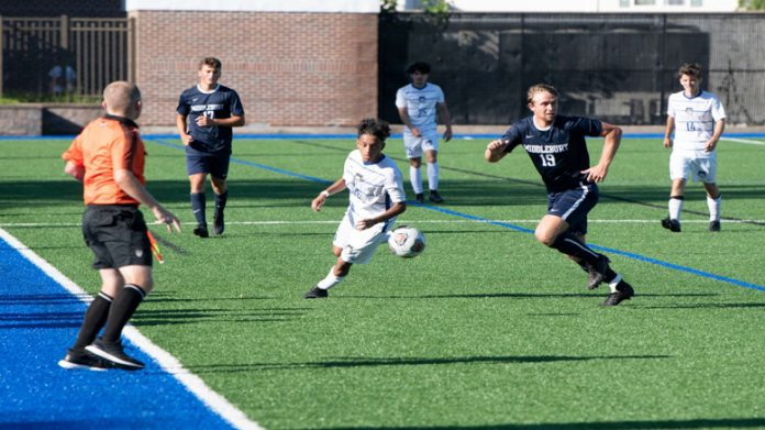 David Giraldo scored for the first time this season in an impressive 5-0 conference victory over Sarah Lawrence Saturday afternoon for the Mount Saint Mary College Men's Soccer team.