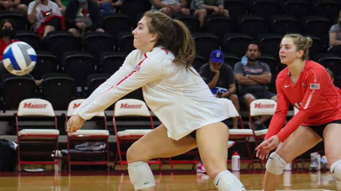Marist Volleyball took the road to the Garden State to face off against Saint Peter's, picking up their fourth consecutive victory with a four-set decision on Saturday afternoon at the Run Baby Run Arena.