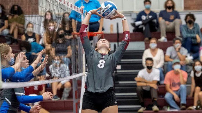 Madison Wilson had three kills, two blocks and two aces as the Vassar College women's volleyball team earned a pair of victories in tri-match action on Saturday.